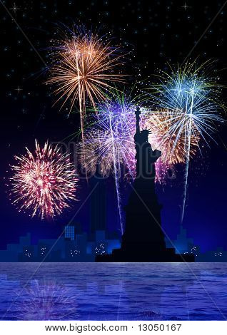 Fireworks Over New York