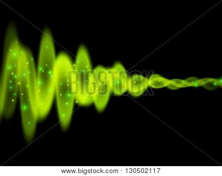 Sound wave, Energy flow, Abstract vector background