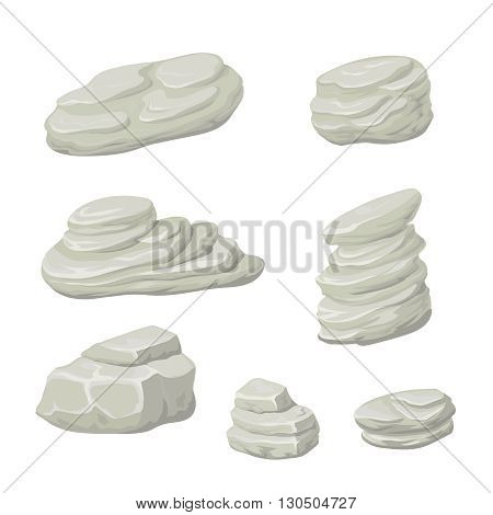 Stones and rocks cartoon vector. Cartoon stone, rock nature, vector
