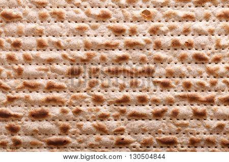 Jewish Matzah Kosher Macro Horizontal Background