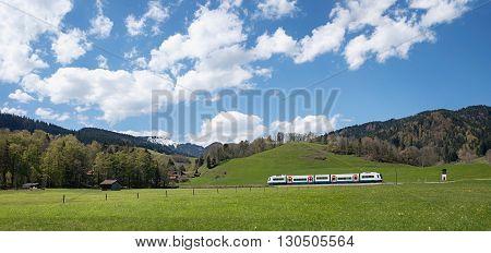 Bavarian Upland Railway Near Schliersee