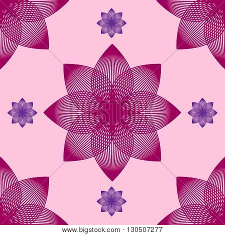 Seamless abstract flower pattern by blends. Vector illustration