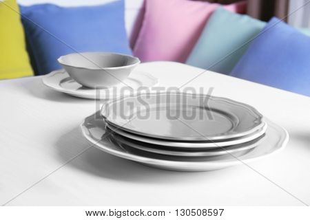 Table setting with stylish tableware