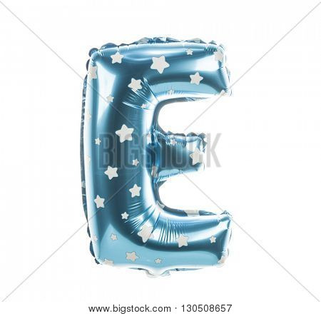 Balloon font with stars part of full set upper case letters, E
