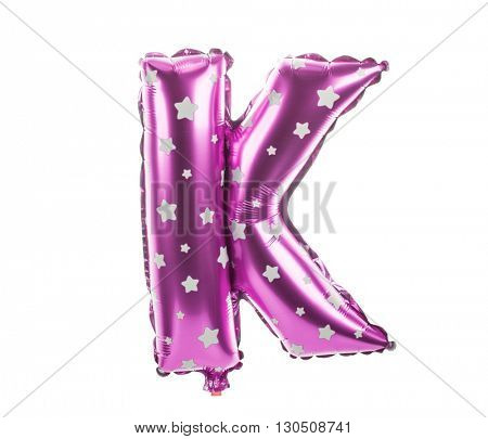 Balloon font with stars part of full set upper case letters, K