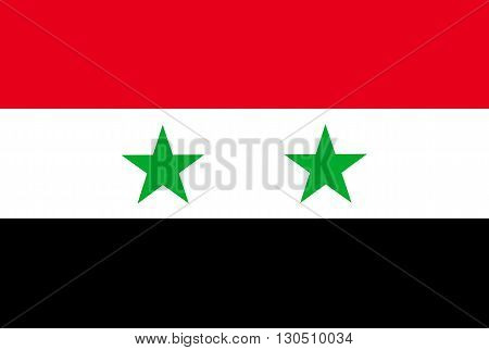 Vector of official flag of Syria country, syrian flag illustration