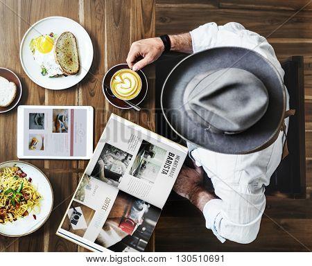 Breakfast Eating Food and Beverages Restaurant Concept