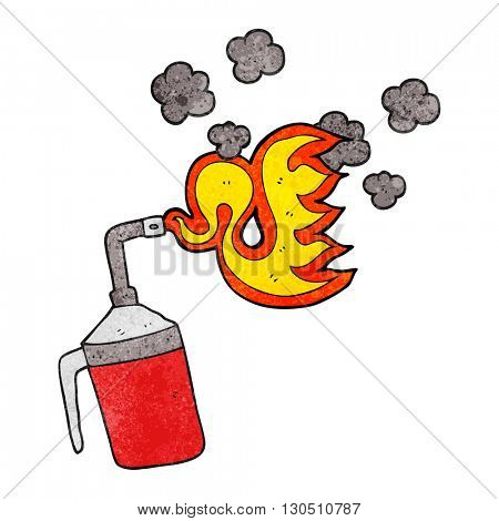 freehand textured cartoon blow torch