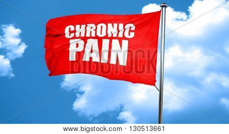 chronic pain, 3D rendering, a red waving flag