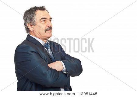 Mature Business Man Looking Away