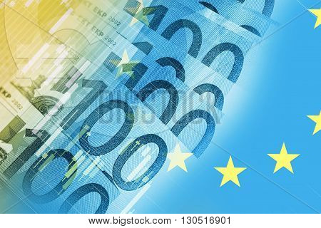 European Union Euros Trader Concept Background. Euro Currency Trading.