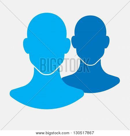 social profile icon, flat vector image for your projects