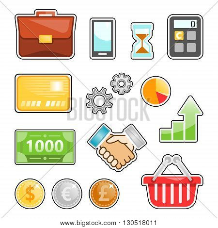 business, finance, marketing, banking vector image set for your projects