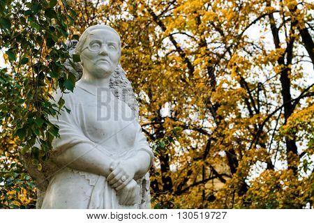 Volgograd, Russia - October 14 2007:The monument of Margaret Agashina in Volgograd
