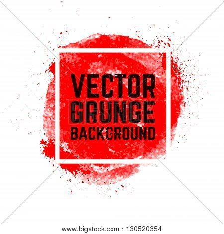 Vector grunge background with banner. Design element in vector.