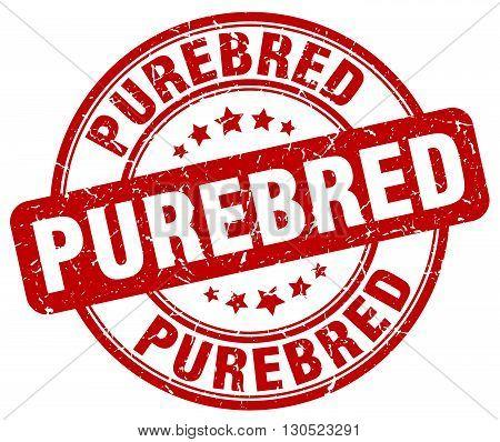 purebred red grunge round vintage rubber stamp