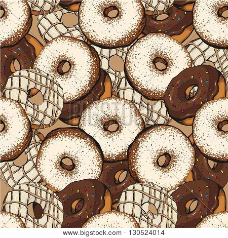 chocolate donut patterndonut vector chocolate pattern design, illustration