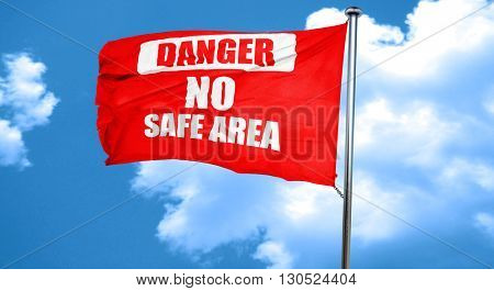 apocalypse danger background, 3D rendering, a red waving flag