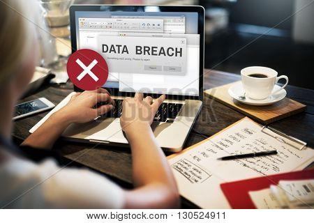 Data Breach Security Confidential Cyber crime Concept