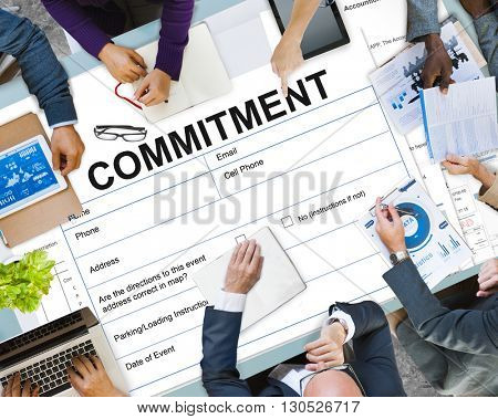 Commitment Contract Legal Document Concept