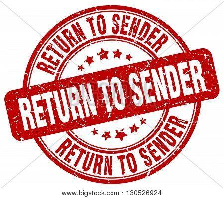 return to sender red grunge round vintage rubber stamp