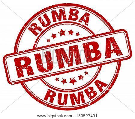 rumba red grunge round vintage rubber stamp