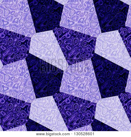 Abstract seamless blue and white marble pattern of polygonal mottled shapes