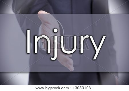 Injury - Business Concept With Text