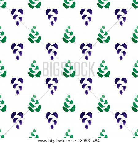 handpaint watercolor vector seamless pattern. For tixtile