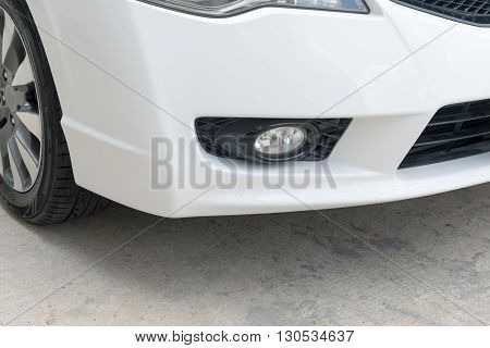 Closeup of car fog light, fog, lighting, light, car, xenon,