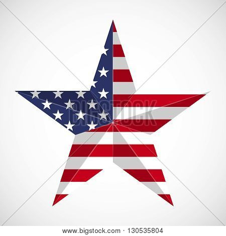 Star in national flag usa. Memorial day concept