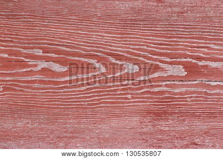 Red old chapped wood texture background macro