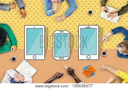 Smartphone Devices Wireless Mobile Cellphone Concept