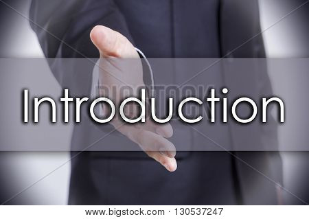 Introduction - Business Concept With Text