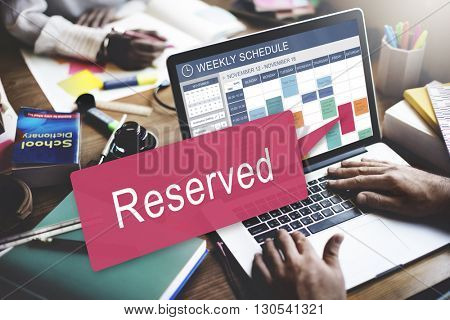 Reserved Private Restaurant Seating Service Setting Concept