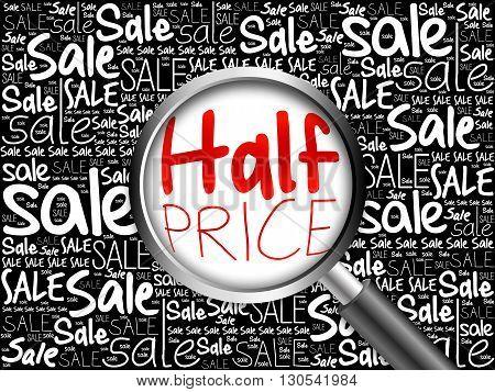 Half Price Word Cloud Background