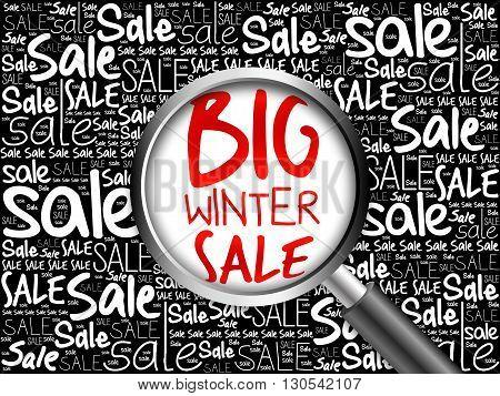 Big Winter Sale Word Cloud