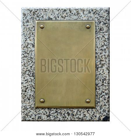 Bronze plaque.