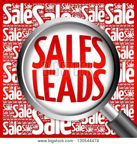 Sales Leads Word Cloud
