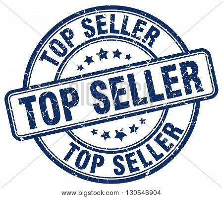 top seller blue grunge round vintage rubber stamp