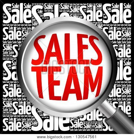 Sales Team Sale Word Cloud