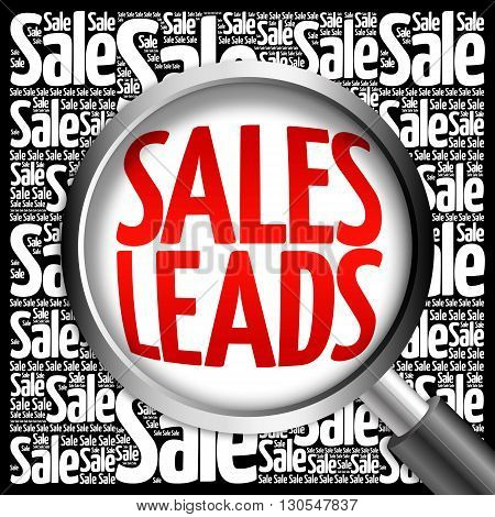 Sales Leads Word Cloud