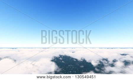 Sky and Clouds ilustration 3D rendering  5