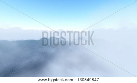 Sky and Clouds ilustration 3D rendering  8