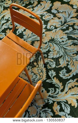 Kids Furniture On A Patterns Carpet