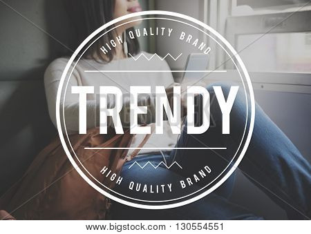 Trendy Design Fashion Modern Style Marketing Concept