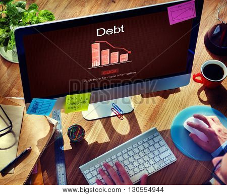 Debt Bill Banking Financial Planning Loan Money Concept