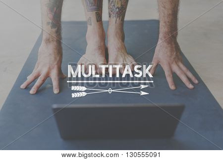 Multitask Busy Jobs Management Organization Concept
