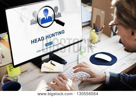 Headhunting Hiring Employment Occupation Jobs Concept