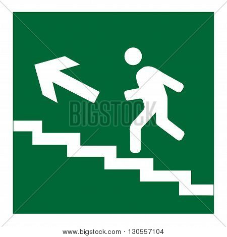 Infographic vector of man on stairs icon, man walk on stair vector